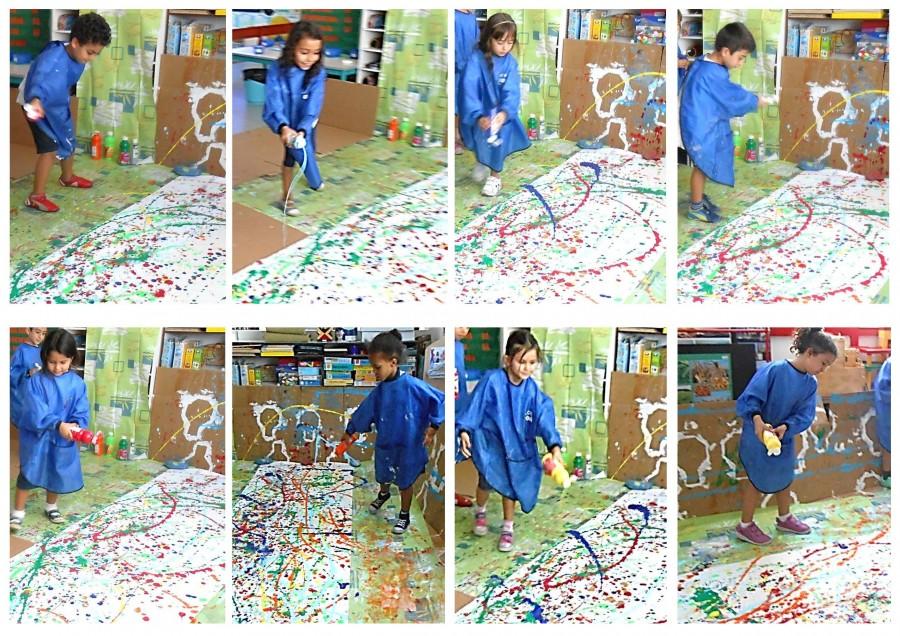 Mes Ateliers Montessori Technique De Peinture Le Tachisme
