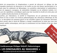 Dinosaures du Maghreb - P. Taquet
