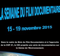 Affiche A3 Semaine du Documentaire