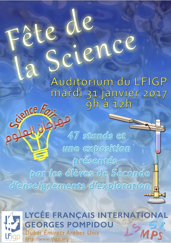 Affiche fête de la sciences