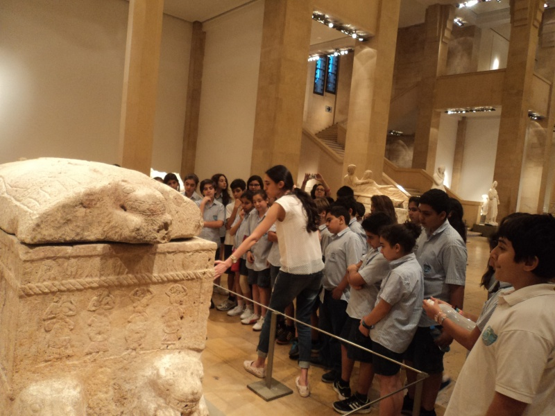 Visite scolaire musée national Beyrouth